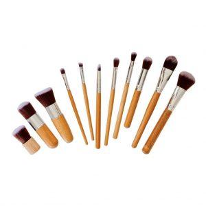 Poppy Sloane Bamboo Luxury 11 Piece Makeup Brush Set